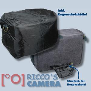 Kalahari GOMO K-45 Canvas schwarz Schultertasche mit Regenschutzhülle für digitale Spiegelreflexkameras oder Systemkameras Evilk - 3