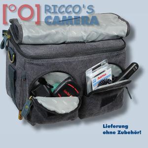 Kalahari GOMO K-45 Canvas schwarz Schultertasche mit Regenschutzhülle für digitale Spiegelreflexkameras oder Systemkameras Evilk - 4