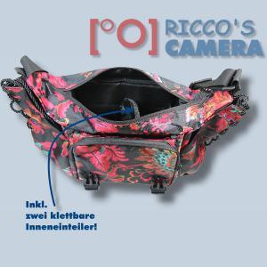 bunte Kameratasche für Fujifilm FinePix X100F X100T X100S X100 X-E2S X-E2 X-E1 X-S1 - Tasche Fototasche Schultertasche bunt ms43 - 2