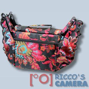 bunte Kameratasche für Nikon 1 J5 V1 S1 J4 J3 J2 J1 - Tasche Fototasche Schultertasche bunt ms43 - 1