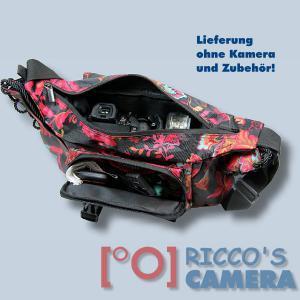 bunte Kameratasche für Olympus E-520 E-510 E-500 E-420 E-410 E-400 E-330 E-300 - Tasche Fototasche Schultertasche bunt ms43 - 3
