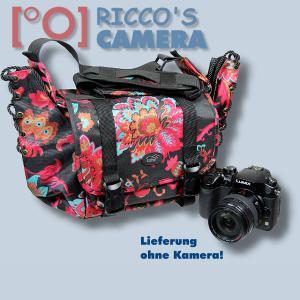 bunte Kameratasche für Panasonic Lumix DMC-GM5 DMC-GM1 - Tasche Fototasche Schultertasche bunt ms43 - 4