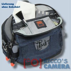 Kameratasche für Panasonic Lumix DMC-GF5 DMC-GF3 DMC-GF1 DMC-GX1 - Fototasche dunkelblau Tasche mit Regenschutz dnlxsb - 3