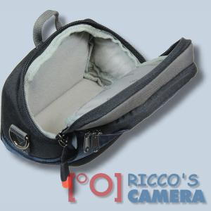 Kameratasche für Panasonic Lumix DMC-GF5 DMC-GF3 DMC-GF1 DMC-GX1 - Fototasche dunkelblau Tasche mit Regenschutz dnlxsb - 4