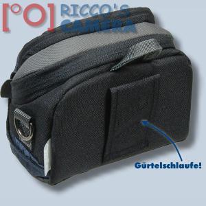 Kameratasche für Sony DSC-HX1 DSC-HX200V DSC-HX100V - Fototasche dunkelblau Tasche mit Regenschutz dnlxsb - 1