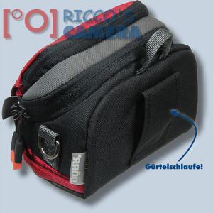 Kameratasche für Nikon Coolpix P7800 P7700 P7000 P500 P80 - Fototasche in rot Tasche mit Regenschutz dnlxsr - 1