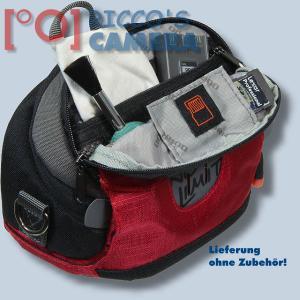 Kameratasche für Nikon Coolpix P7800 P7700 P7000 P500 P80 - Fototasche in rot Tasche mit Regenschutz dnlxsr - 3