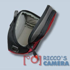 Kameratasche für Nikon Coolpix P7800 P7700 P7000 P500 P80 - Fototasche in rot Tasche mit Regenschutz dnlxsr - 4
