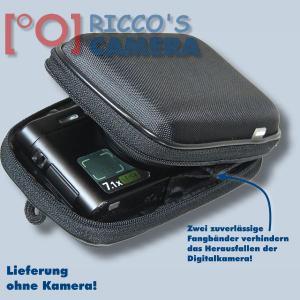 Hardcase Tasche für Panasonic Lumix DMC-FS35 DMC-FS33 DMC-FS30 - Fototasche Kameratasche in schwarz ybxls - 2