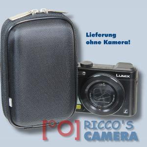 Hardcase Tasche für Panasonic Lumix DMC-FS35 DMC-FS33 DMC-FS30 - Fototasche Kameratasche in schwarz ybxls - 3