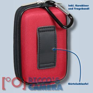 Hardcase Tasche für Panasonic Lumix DMC-FS35 DMC-FS33 DMC-FS30  - Fototasche in rot Kameratasche ybxlr - 1