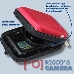 Hardcase Tasche für Panasonic Lumix DMC-FS35 DMC-FS33 DMC-FS30  - Fototasche in rot Kameratasche ybxlr - 2