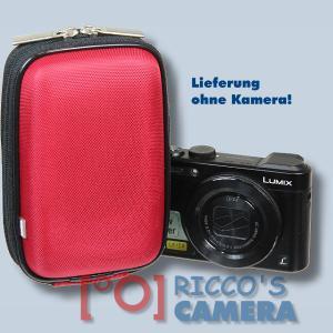 Hardcase Tasche für Panasonic Lumix DMC-FS35 DMC-FS33 DMC-FS30  - Fototasche in rot Kameratasche ybxlr - 3
