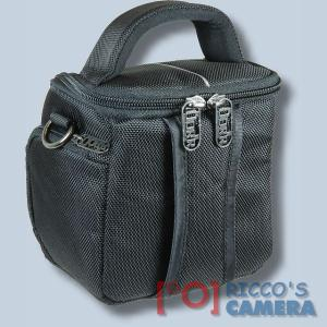 Fototasche für Sony DSC-HX350 DSC-HX400V DSC-HX300 HX200V HX100V HX1 - Kameratasche mit Regenschutzhülle Tasche schwaz silber - 1