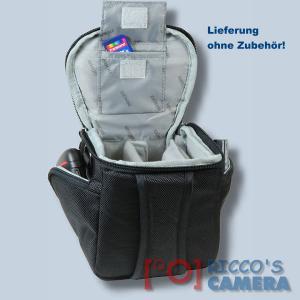 Fototasche für Sony DSC-HX350 DSC-HX400V DSC-HX300 HX200V HX100V HX1 - Kameratasche mit Regenschutzhülle Tasche schwaz silber - 2
