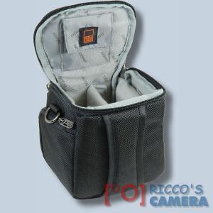 Fototasche für Sony DSC-HX350 DSC-HX400V DSC-HX300 HX200V HX100V HX1 - Kameratasche mit Regenschutzhülle Tasche schwaz silber - 3