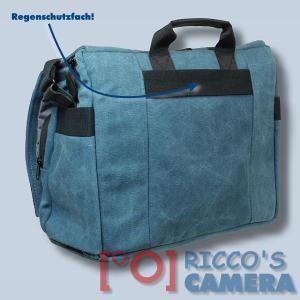 Fototasche mit Regenschutzhülle für Nikon D850 D500 D810A D750 D810 D610 D600 D300 D200 - Kameratasche in blau Tasche gdb - 2