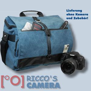 Fototasche mit Regenschutzhülle für Nikon D90 D80 D70 D70s D60 D50 D40 D40x - Kameratasche in blau Tasche gdb - 1
