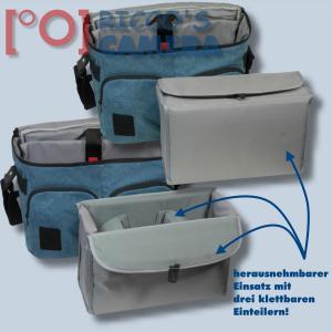 Fototasche mit Regenschutzhülle für Panasonic Lumix DC-GH5S DMC-GH5 GH4 GH3 DMC-GH2 DMC-GH1  - Kameratasche in blau Tasche gdb - 3