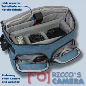 Fototasche mit Regenschutzhülle für Panasonic Lumix DC-GH5S DMC-GH5 GH4 GH3 DMC-GH2 DMC-GH1  - Kameratasche in blau Tasche gdb - 4