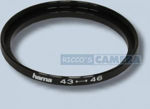 Filteradapter 43 - 46 mm ( Objektiv 43mm / Filter 46mm ) Step Up Ring Anschlussring Adapterring Hama  14346