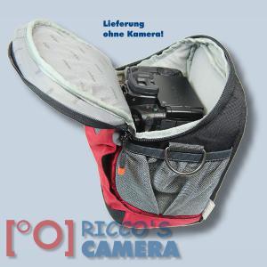 Halftertasche für  Nikon D90 D80 D60 D50 D40 D40x  - Holster-Tasche in rot Bereitschaftstasche Fototasche Kameratasche Colt Bag - 4