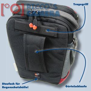 Halftertasche für Olympus E-520 E-510 E-420 E-410 E-400 E-330E-300 E-100RS E-500 - Holster-Tasche in rot Bereitschaftstasche Fot - 1