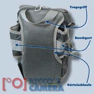 Genesis Rover toploader Fototasche in lime Kameratasche mit Bauchgurt und Zweit-Objektivfach Holster Tasche SLR-Kamera grün grl - 1