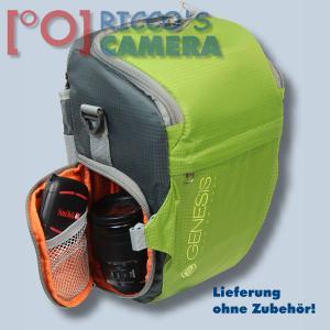 Genesis Rover toploader Fototasche in lime Kameratasche mit Bauchgurt und Zweit-Objektivfach Holster Tasche SLR-Kamera grün grl - 3