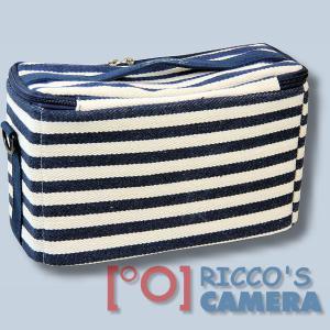 maritime Kameratasche für Olympus Stylus SP-100EE - Fototasche in blau weiß Tasche K-50 k50 - 1