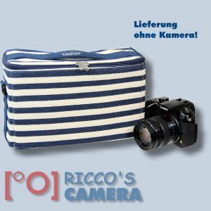 maritime Kameratasche für Olympus Stylus SP-100EE - Fototasche in blau weiß Tasche K-50 k50 - 4
