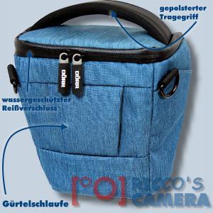 Dörr Halfter-Fototasche Motion M in blau Colt Kameratasche für Systemkameras Bridgekameras und kleine DSLR Kamera Tasche hmmbl - 1