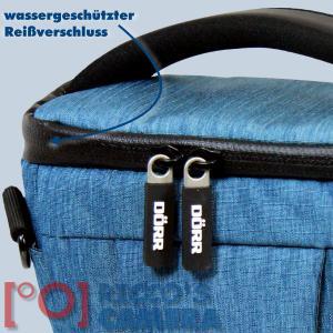 Dörr Halfter-Fototasche Motion M in blau Colt Kameratasche für Systemkameras Bridgekameras und kleine DSLR Kamera Tasche hmmbl - 2