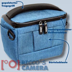 Dörr Fototasche Motion S in blau Kameratasche für Systemkameras Bridgekameras und kleine DSLR Kameras Tasche Bag blue dmsbl - 1