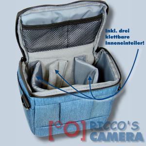 Dörr Fototasche Motion S in blau Kameratasche für Systemkameras Bridgekameras und kleine DSLR Kameras Tasche Bag blue dmsbl - 3