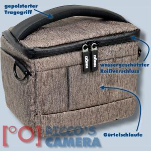 Dörr Fototasche Motion S in braun Kameratasche für Systemkameras, Bridgekameras und kleine DSLR Kameras Tasche Bag brown dmsbr - 1