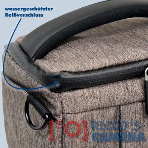 Dörr Fototasche Motion S in braun Kameratasche für Systemkameras, Bridgekameras und kleine DSLR Kameras Tasche Bag brown dmsbr - 2