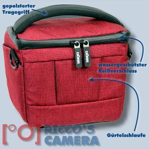 Dörr Fototasche Motion S in rot Kameratasche für Systemkameras, Bridgekameras und kleine DSLR Kameras Tasche Bag red dmsr - 1