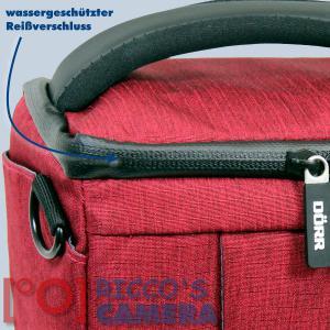 Dörr Fototasche Motion S in rot Kameratasche für Systemkameras, Bridgekameras und kleine DSLR Kameras Tasche Bag red dmsr - 2