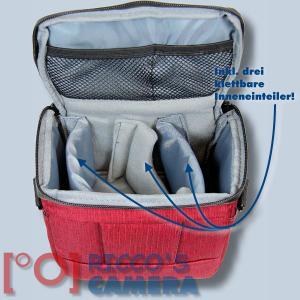 Dörr Fototasche Motion S in rot Kameratasche für Systemkameras, Bridgekameras und kleine DSLR Kameras Tasche Bag red dmsr - 3
