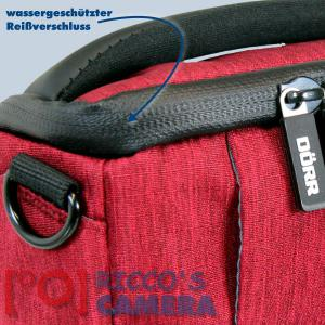 Dörr Fototasche Motion XS in rot Kameratasche für kompakte Digitalkameras oder kleine Systemkameras Tasche Bag red mxsr - 2