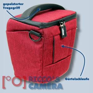 Colt Fototasche für Canon EOS D60 D30 10D - Halfter-Kameratasche rot Holster Tasche hmlr - 1