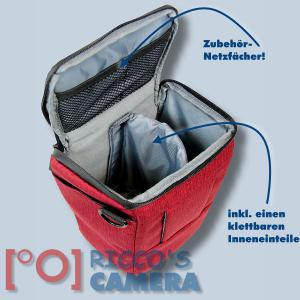 Colt Fototasche für Canon EOS D60 D30 10D - Halfter-Kameratasche rot Holster Tasche hmlr - 3
