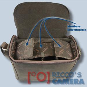 Leder Tasche Kalahari Kaama L-15 Kameratasche Büffelledertasche Fototasche kl15 - 4