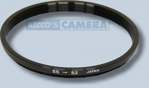 Filteradapter 55 - 52 mm ( Objektiv 55mm / Filter 52mm ) - Step Down Ring Anschlussring Adapterring