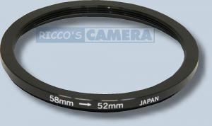 Filteradapter 58 - 52 mm ( Objektiv 58mm / Filter 52mm ) - Step Down Ring Anschlussring Adapterring
