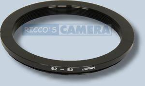 Filteradapter 62 - 52 mm ( Objektiv 62mm / Filter 52mm ) - Step Down Ring Anschlussring Adapterring