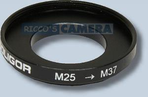 Filteradapter 25 - 37 mm ( Objektiv 25 / Filter 37mm ) - Step Up Ring Anschlussring Adapterring