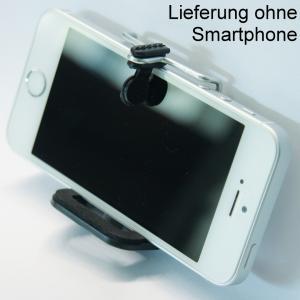 Handyhalterung Smartphone Halter für Selfie Aufnahmen mit Ihrem iPhone Samsung Galaxy Sony Xperia Huawei u.a. Stativhalterung St - 1