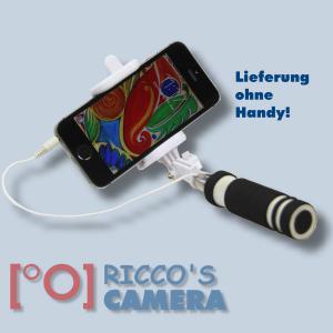 Selfie-Stick mit Kabel-Auslöser für Ihr Smartphone z.B. iPhone, Samsung Galaxy, Huawei, Microsoft Lumia, Sony Xperia u.v.a micro - 2